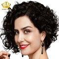 Pelo corto y rizado 3 manojos montón profunda Birmano rizado corto bob pelo lindo cabello Birmano virgen deepwave cabello naturalmente rizado 100 g/pc