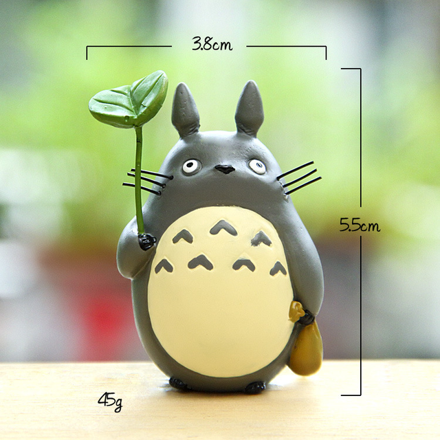 Resin Hayao Miyazaki's Totoro Model Figurines Fairy Flower Pot Ornament Miniatures Moss Gnome Decoration Crafts Gifts Home 6