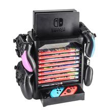 Multifunctional Game Disk Storage Tower Holder For Nintend Switch Console and for NS Switch Pro Controllers 1pc rcm clip ns sx pro os crack tools short connector rcm tool short circuit modify file jig for nintend switch ns