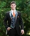 Nuevo Mens de La Llegada Del Partido de Cena Blazer Trajes de Baile Trajes de Novio Esmoquin Padrinos de Boda (Jacket + Pants + Vest + Tie) K: 1355
