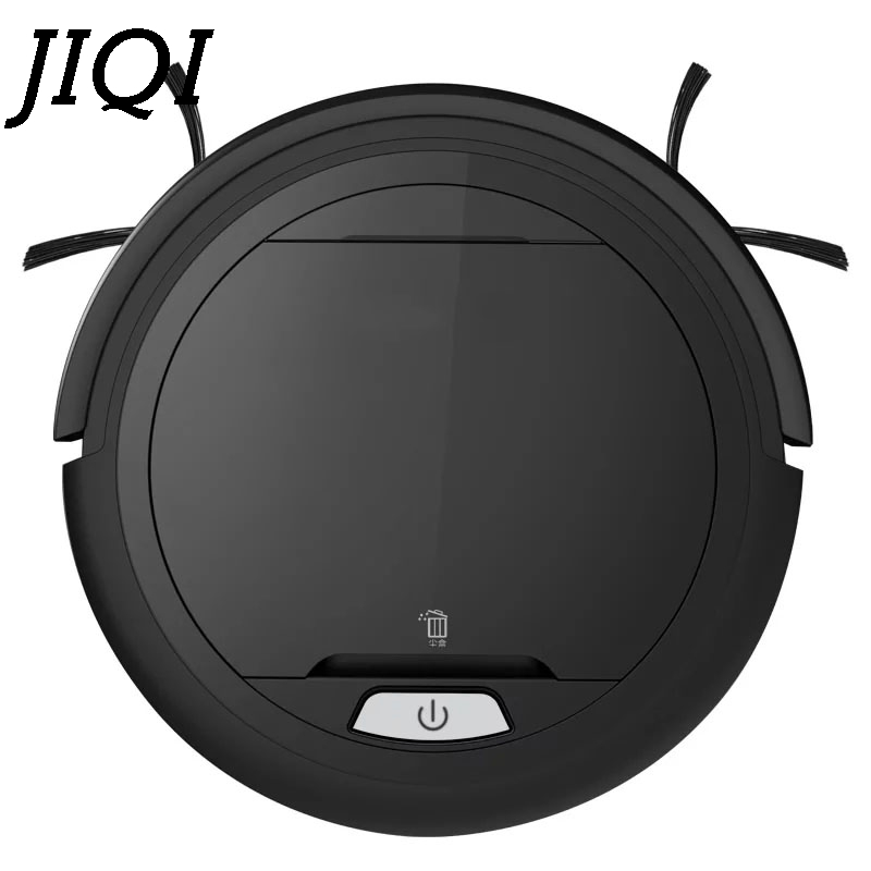 JIQI Rechargeable Sweeper Intelligent Robot Vacuum Cleaner Mini 1000Pa Suction aspirator Wet Dry Mopping dust catcher 110V 220V intelligent d5501 robot vacuum cleaner with 180ml water tank 2 suction nozzle powerful wet
