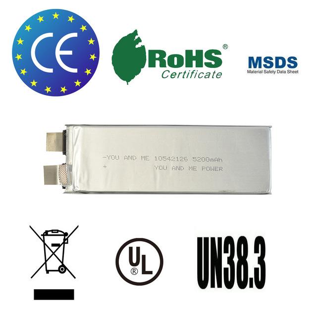 2 pçs/lote You & Me 5200 mah recarregável rc célula de bateria lipo 3.7 V