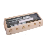 wooden portable spine pack Coccygeal vertebra waist human S arc Moxibustion box 50*20*11.2cm