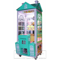 Lovely House Cranes Claw Machine Teenagers and Kids Catch Doll Toys Coin Operated Amusement Game Machine For Shopping Center