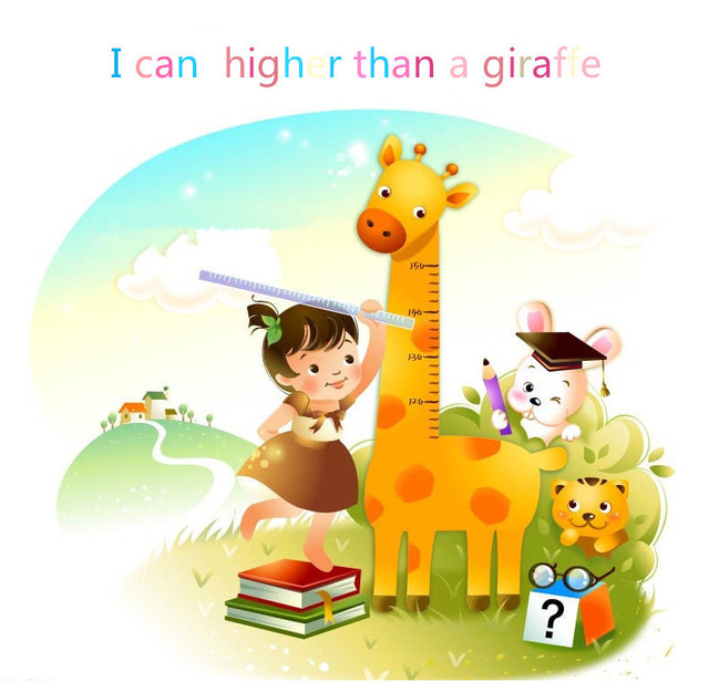 Aliexpress.com : Buy DIY wall 180cm*88cm Giraffe Height Ruler ...