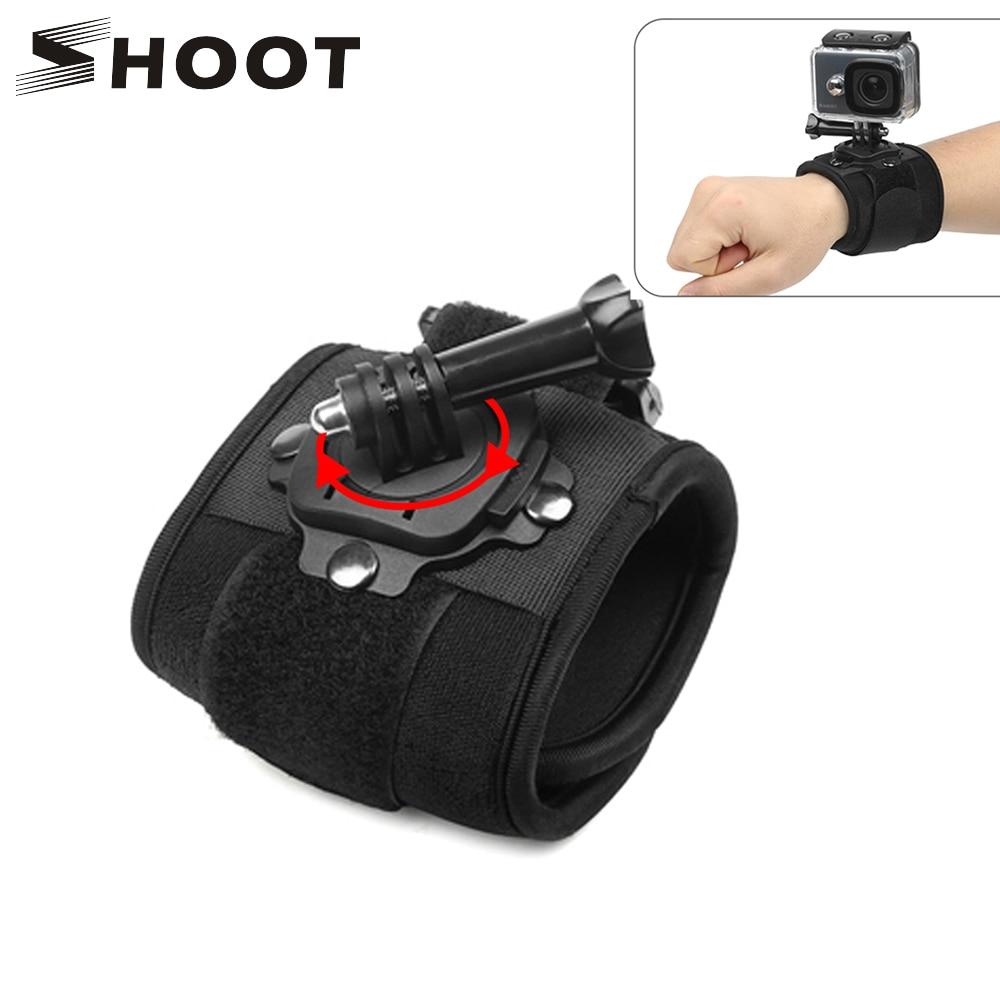 SHOOT 360 Degree Rotation Hand Wrist Strap For GoPro Hero 7 5 6 4 Session Xiaomi Yi 4K Lite SJ4000 H9 Arm Belt Go Pro Accessory