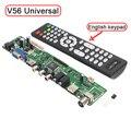 """Suporte 7-55 """"V56 Universal TV LCD Placa de Driver de Controlador de PC/VGA/HDMI/Interface USB USB reprodução de vídeo/foto função Frete Grátis"""