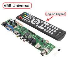 """Поддержка 7-55 """"V56 Универсальный ЖК-телевизор драйвер контроллера Совета PC/VGA/HDMI/USB интерфейс USB воспроизведения видео/фото Функция Бесплатная доставка"""