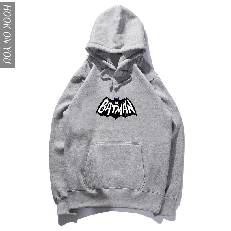 Superhero batman costume Autumn style cartoon Hoody men adult Hoodie for male bat anime clothes Sweatshirts big size XXXL