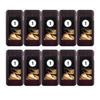 10 pcs Appel Coaster Pager Récepteur pour Sans Fil Restaurant Pagination Système de File D'attente Système D'appel 433 mhz F4427A