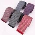 Juegos de negocio Flacos Corbatas de Los Hombres Corbata Estrecha Corbata de Punto de Punto de Lana Ocasional de Los Hombres Corbatas Corbata para La Boda Collar Cravate