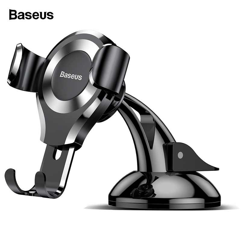 Baseus Gravity Car Phone Holder For iPhone X Samsung S10 Suction Cup Car Mount Holder For Phone in Car Mobile Phone Holder Stand