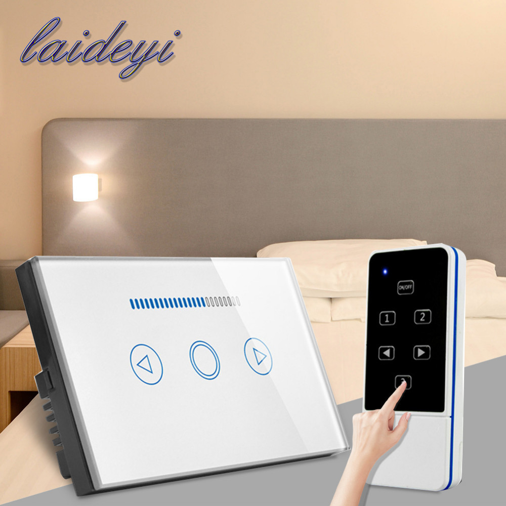 LAIDEYI 1PCS Smart Wireless LED Dimmer Touch Screen Dimmer Switch AC 110-240v Remote Control LED Dimming Switch with US Plug l occitane бальзам для губ лайм карите бальзам для губ лайм карите