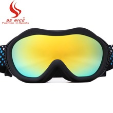 Ladies colorful lens anti fog 100% UV professional and eye wear Sports Protective Safety skiing goggles snow-1400