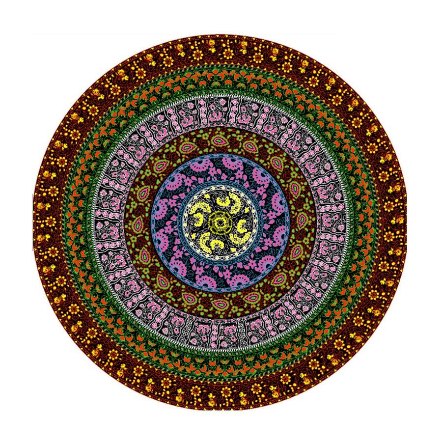 achive dreams Store Round beach Picnic carpet mat Indian mandala Bohemia Flowers print carpets living room kids room kitchen bathroom Yoga mats