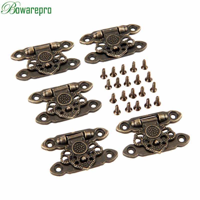 bowarepro 5Pcs Bronze Alloy Latch Hardware Decorative Jewelry Gift Wooden Box Suitcase Hasp Latch Hook With Screws 37*25MMbowarepro 5Pcs Bronze Alloy Latch Hardware Decorative Jewelry Gift Wooden Box Suitcase Hasp Latch Hook With Screws 37*25MM