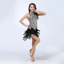 Sexy Bling Latin Sequins Ballroom Salsa Samba Rumba Tango Dress Dance Performance Dress