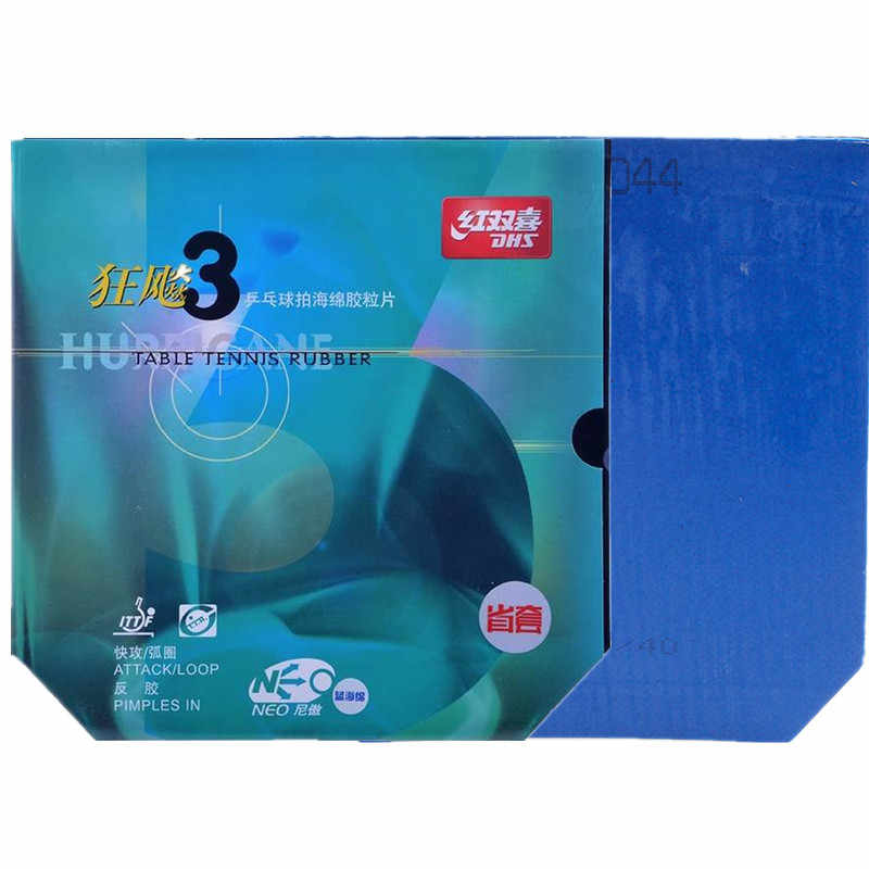 DHS Hurricane 3 NEO Provincial (Blue Sponge) Table Tennis Rubber Pips-In Ping PongWith Sponge Tenis De Mesa