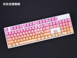 Image 3 - Taihao teclado mecânico com tiras duplas, teclado para jogo diy, cor de miami diabetes lo, preto, laranja, ciã, arco íris, cinza claro