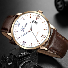Luxury Quartz Analog Relogio Masculino Men Business Watches Sports Brand Chronograph Wristwatch Leather Strap Male Clock цена и фото