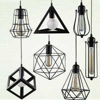 RH LOFT Vintage Chandeliers Lamp LED Light Multiform Metal Pendant Lampshade Warehouse Style Lighting Light Fixture