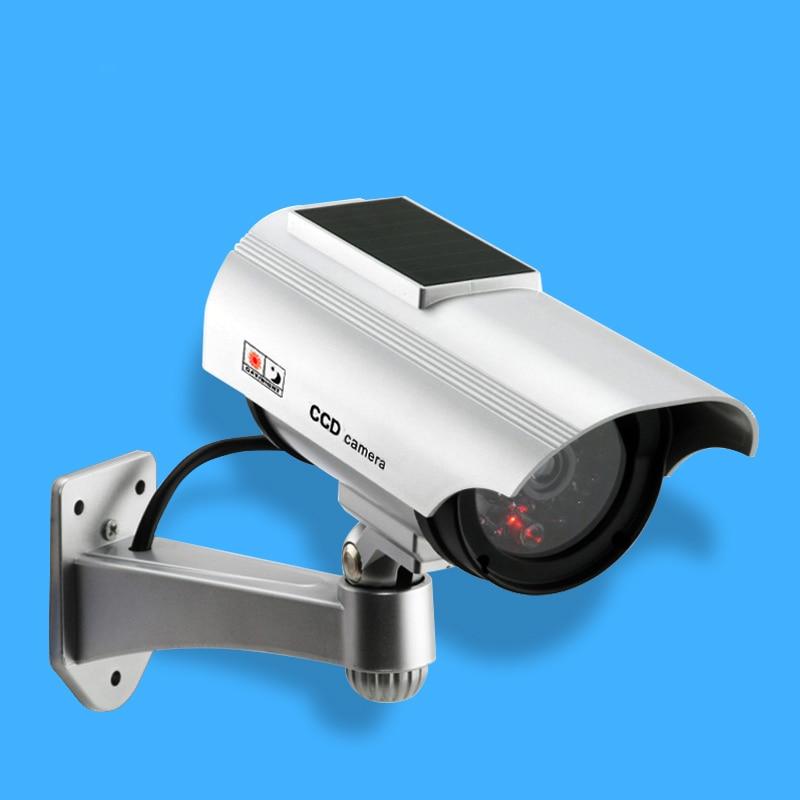 bilder für Gefälschte Kamera Solarbetriebene Dummy Überwachungskamera Kugel Cctv-kamera Überwachung Camaras de Seguridad mit Flash-LED-Licht