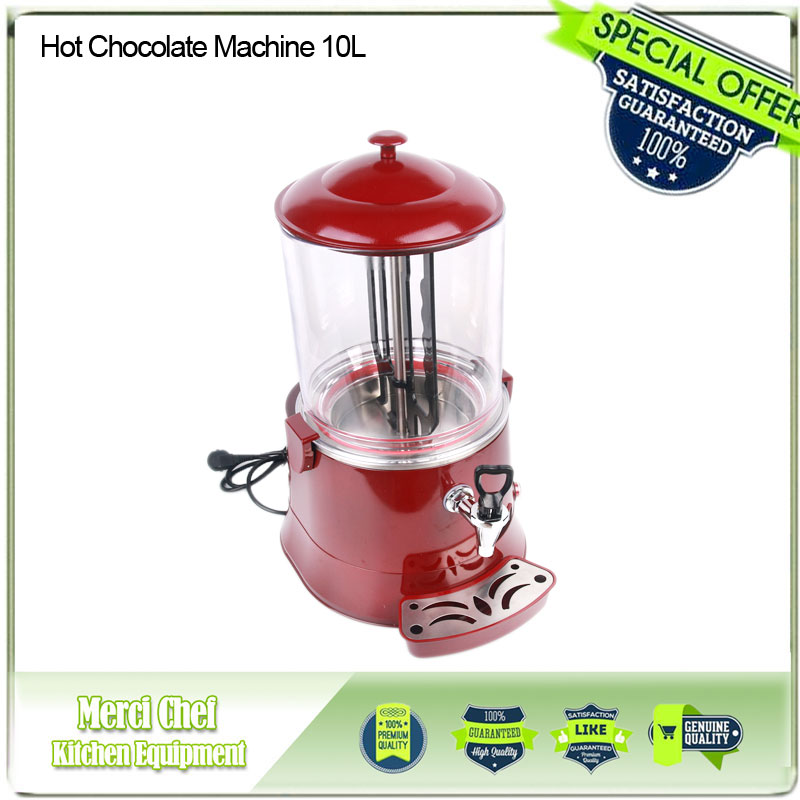 Fast Shipping Hot Chocolate Machine 10L 110V-220V Electric Baine Marie Mixer chocofairy Coffe Milk Wine Tea Dispenser Machine fast shipping food machine 6 layers chocolate fountains commercial chocolate waterfall machine with full stainless steel