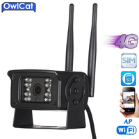 OwlCat HD 720P 1080P Outdoor Waterproof 3G 4G SIM Card WIFI Camera Mini CCTV Camera AP