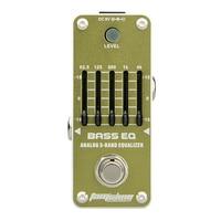 New AROMA AEB 3 BASS EQ 5 Band Bass Equalizer Mini Analogue Effect Pedal True Bypass