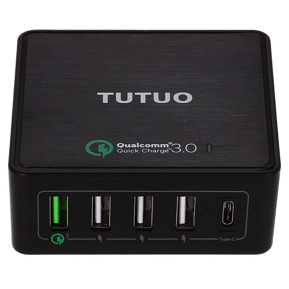 Tutuo Quick Charge 3,0 5 Порты USB type c Путешествия Быстрый Зарядное устройство Универсальный Быстрый Зарядное устройство для samsung Galaxy S8 LG Xiaomi iphone