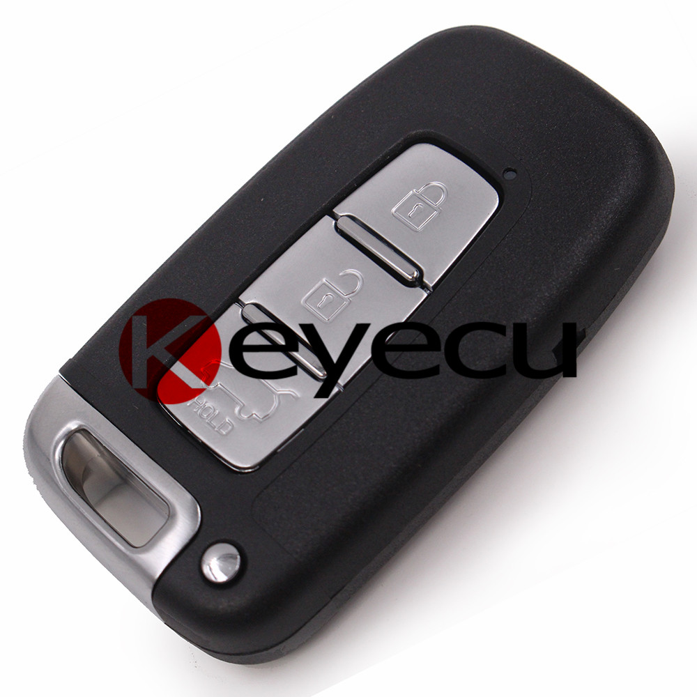 10PCS/lot New Uncut Smart Remote Key Shell Case Fob for Hyundai Genesis Coupe Sonata  free shipping 1 piece smart remote ket shell key case fob 2 button shell for toyota prius 2004 2009 with emgency key