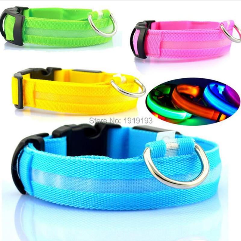 50pcs 7 Colors Led Doggie Safety Belt Flashing Led Strip Pet Harness Lead Adjustable Luminous Anti-lost Cat Necklace Leash Rope