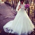9075 Vintage Plus Size Wedding Dresses 2016 Appliques Tulle Puffy Actual Image Princes Lace Bridal Gowns Lace edge