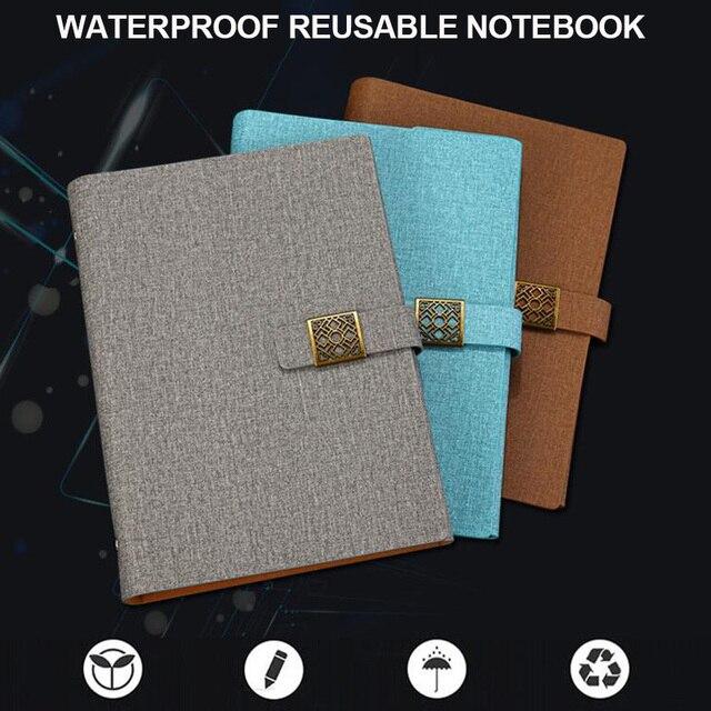 Waterproof Smart Reusable Notebook High tech Erasable Notebook A5 Size