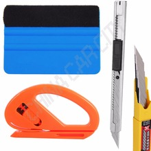 Useful 3m squeegee safety cutter auto-lock art knife 10pcs blades Car decal Window Film Tint Tools Squeegee Scraper Set Kit K08A