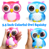 Colorful Jumbo Squishy Cute Owl Squishies Super Slow Rising Cream Scented Phone Strap Squeeze Toys Original