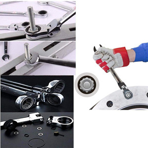 Image 5 - Flexible Ratchet Action Wrench Spanner Nut Tool Head Ratchet Metric Spanner Open End and Ring Wrenches Tool Size 8mm 13mm