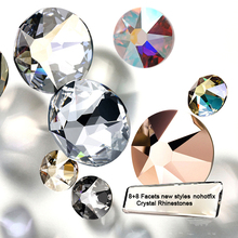 16 Cut Facets ss16 ss20 Flatback Non HotFix Rhinestones Strass Clear AB Siam Multicolor for Nail Art Clothing Decoration
