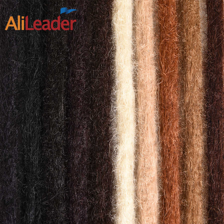 Alileader 20 Zoll Synthetische Handgemachte Dreadlocks 1 Wurzel Flechten Haar Dreads Haar Verlängerung Schwarz Blond Braun Farbe Häkeln Geflecht