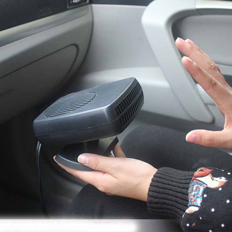 Car-Styling Portable 24V 200W Auto Car Heater Heating Fan with Swing-out Handle Driving Enthusiasts Defroster Demisterr  200w auto car portable heater fan dryer defrost black 12v