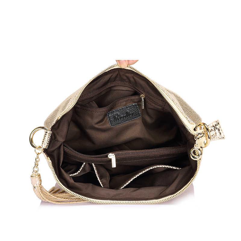 Сумка женская через плечо из натуральной кожи REALER сумочка для женщин