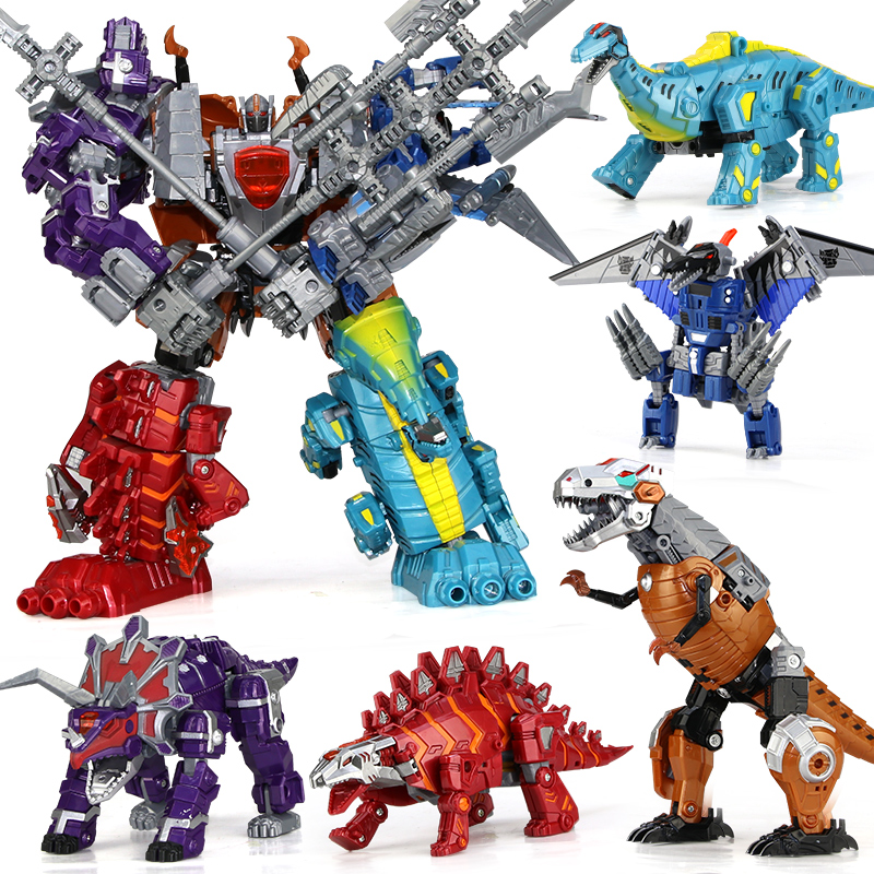 5 in 1 combination Anime Transformation toy Dragon Robot Brinquedos kid Action figures Classic Toys Boys