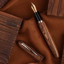 מונמן M6 החלקה דיו מזרקת עט כתיבה חלק אריזת מתנה בית ואקום מילוי משרד התאמן מכשיר מוצק עץ נייד