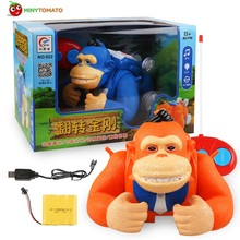 Free Shipping Remote Control King Kong Monkey Stunt RC Car with Music Light Toy Best Toys For Children