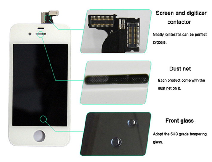 for iphone 4s lcd screen 7