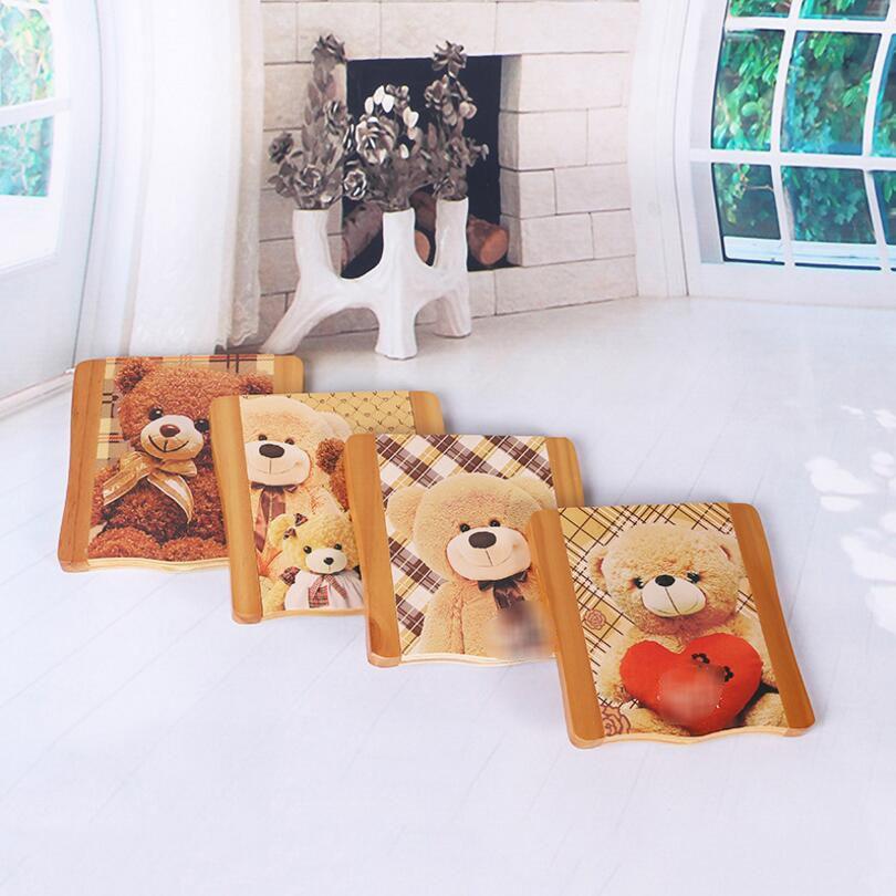 30PCS Cartoon Bear Cubs Wood Makeup Mirror High-end Desktop Folding Small Mirror Portable Wood Mirror SE14