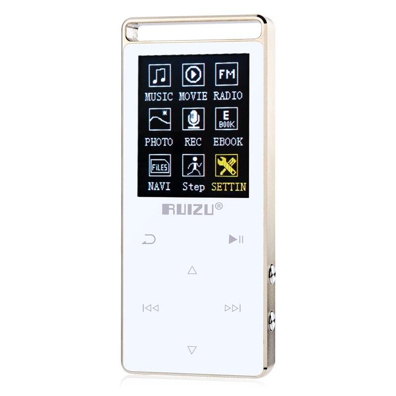 Original RUIZU D01 Metal HIFI Bluetooth MP3 Player Touch Screen 8GB Play 100hours high quality Lossless Sound Music Player