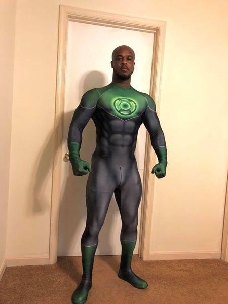 Green Lantern Costume 3D Printed Green Lantern Superhero Cosplay Costume Halloween Party Cosplay Bodysuit No Eyemask