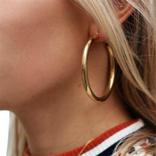 South Korea Jewelry Earrings Lovers Circle Ear Ring For Women Round Female Hip Hop Hoop