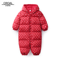 CROAL CHERIE Winter Baby Rompers Girls Boys Clothes Hooded Baby Boys Rompers Warm Fleece Jumpsuits Infants Kids Winter Clothes